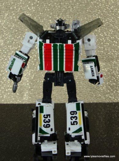 Transformers Masterpiece Wheeljack figure review -bot mode rear