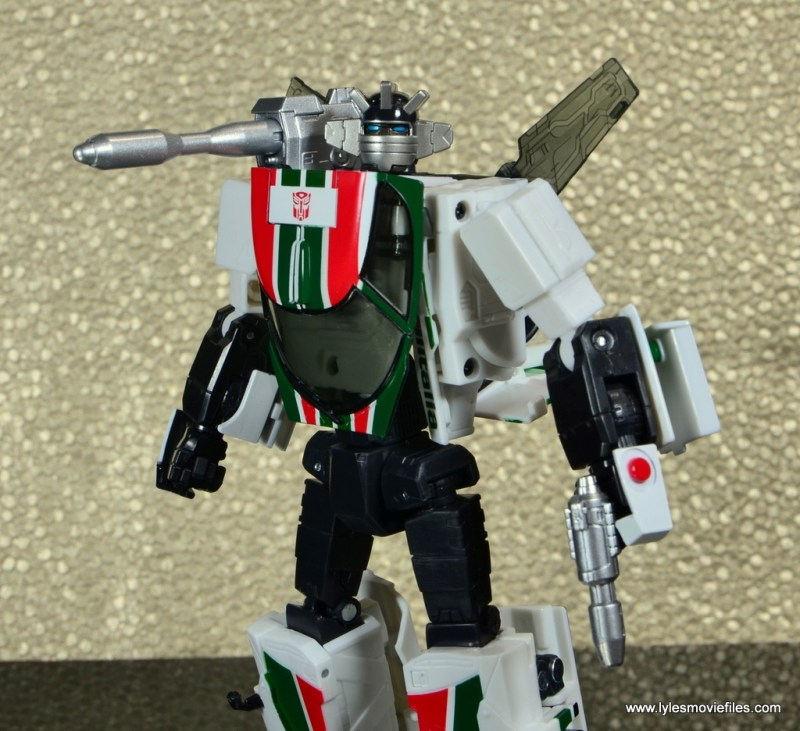 Transformers Masterpiece Wheeljack figure review -close up shot