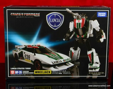 Transformers Masterpiece Wheeljack figure review -front package