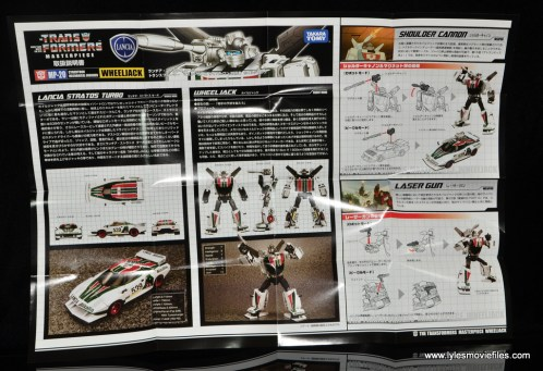 Transformers Masterpiece Wheeljack figure review - instructions