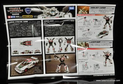 Transformers Masterpiece Wheeljack figure review - instructions