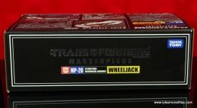 Transformers Masterpiece Wheeljack figure review -package top