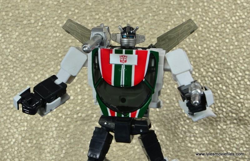 Transformers Masterpiece Wheeljack figure review - wide