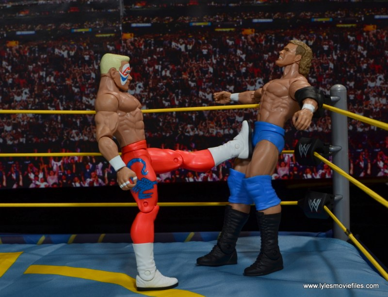 WWE Basic Surfer Sting figure review -kick to Sid Vicious