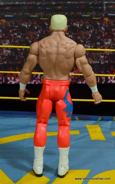 WWE Basic Surfer Sting figure review - rear