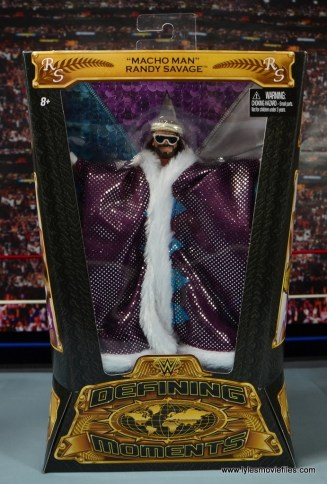 WWE Defining Moments Macho Man Randy Savage figure review -package front