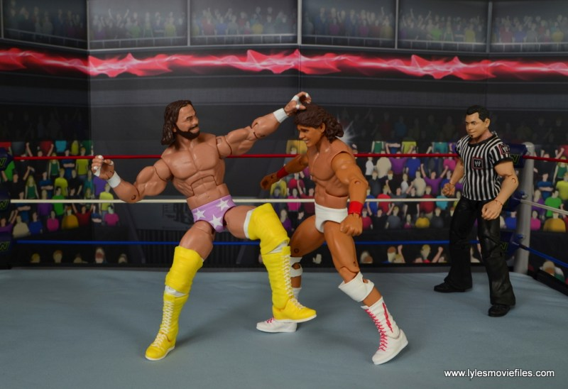 WWE Defining Moments Macho Man Randy Savage figure review -punching Tito Santana
