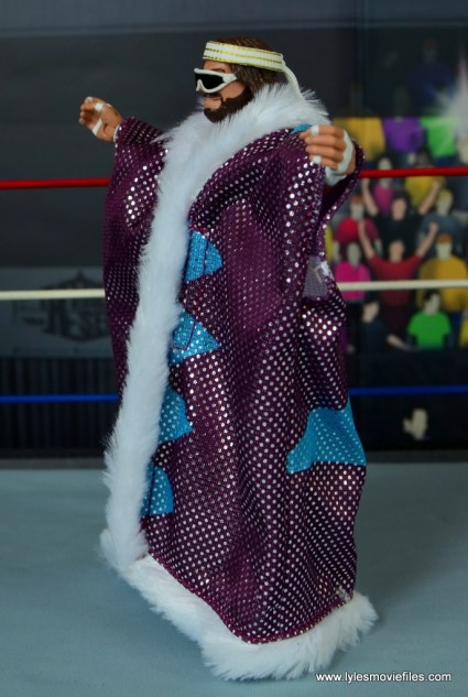 WWE Defining Moments Macho Man Randy Savage figure review - robe left side