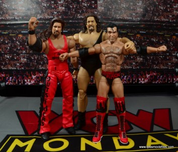WWE Elite 51 Scott Hall figure review -hanging with Kevin Nash and The Giant