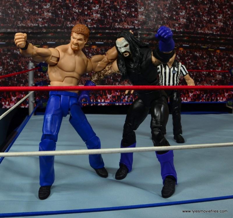 WWE Elite Isaac Yankem figure review -sending Undertaker to the turnbuckle