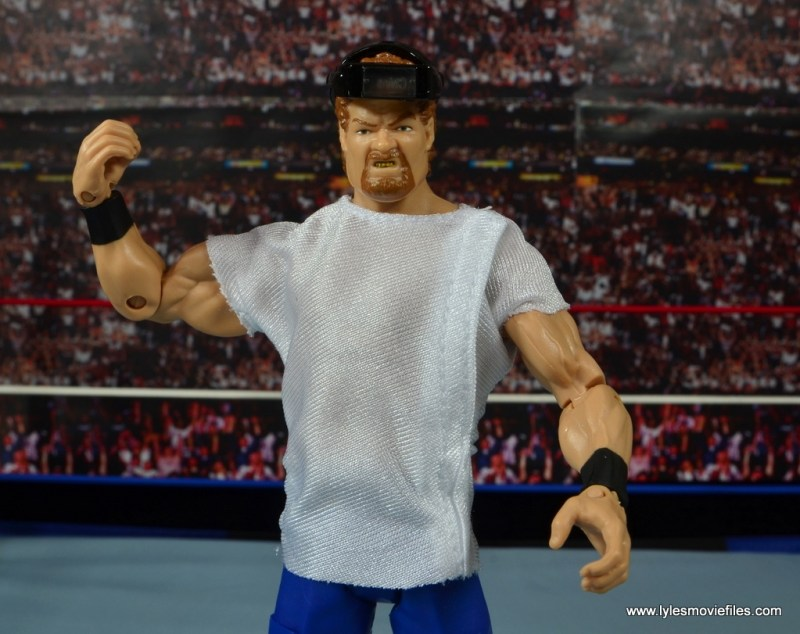WWE Elite Isaac Yankem figure review -with lab coat and headgear