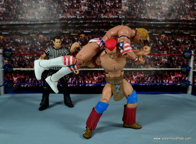 WWE Elite Tatanka figure review - Samoan drop to Lex Luger