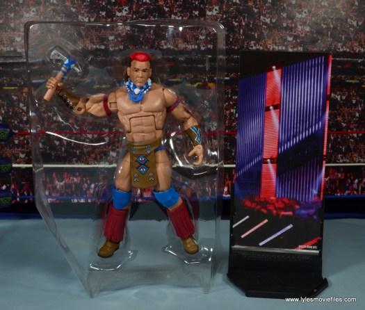 WWE Elite Tatanka figure review - accessories