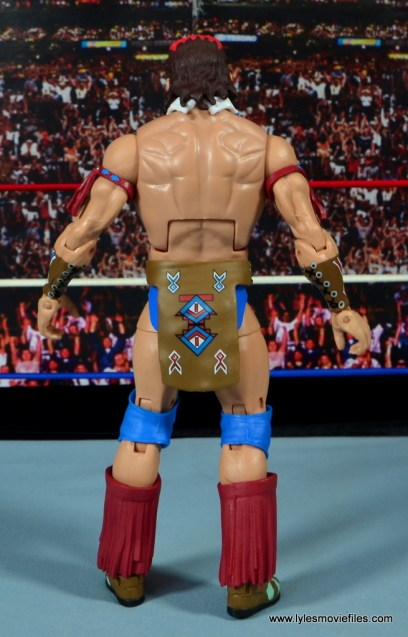 WWE Elite Tatanka figure review - rear