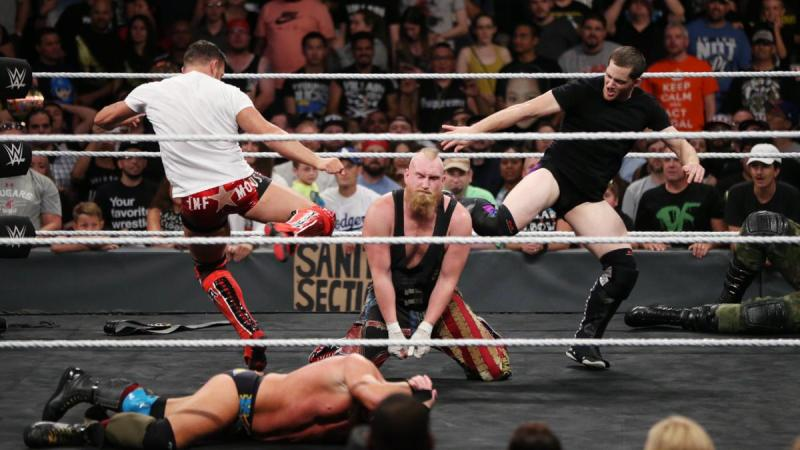 WWE NXT TakeOver Brooklyn III - RedDragon attacks Sanity