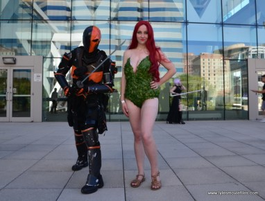 Baltimore Comic Con 2017 cosplay - Deathstroke and Poison Ivy