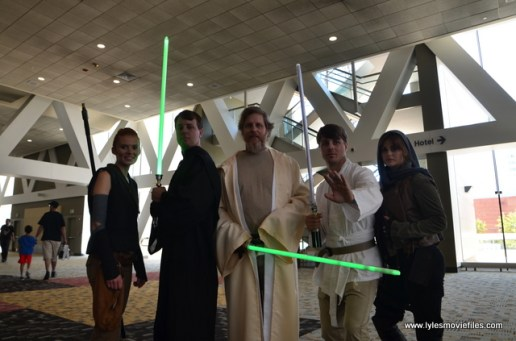 Baltimore Comic Con 2017 cosplay - Rey, Luke, Old Luke, Star Wars Luke and Jyn