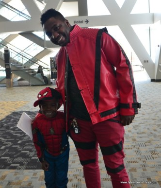 Baltimore Comic Con 2017 cosplay - Spider-Man and Michael Jackson