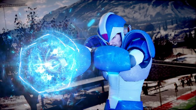 Dead Rising 4 Frank's Big Package - Frank as Mega Man