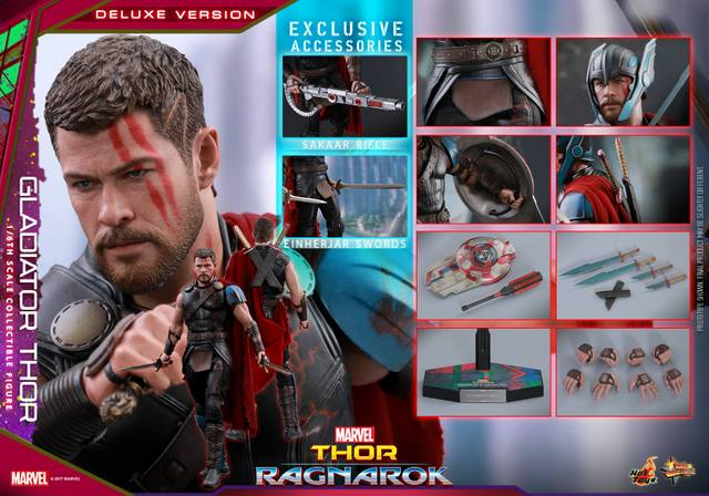 Hot Toys Gladiator Thor figure -collage