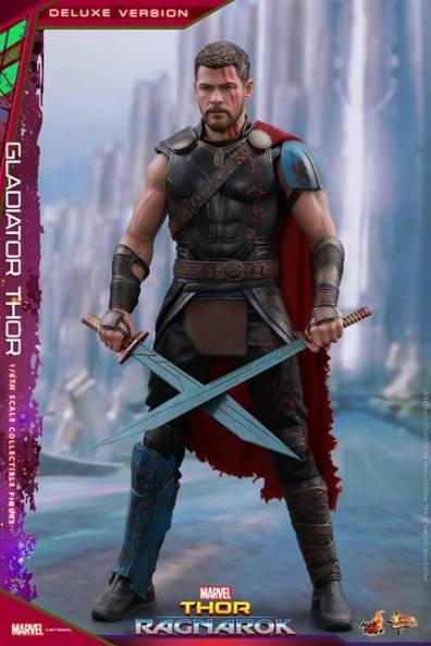 Hot Toys Gladiator Thor figure -crossed swords
