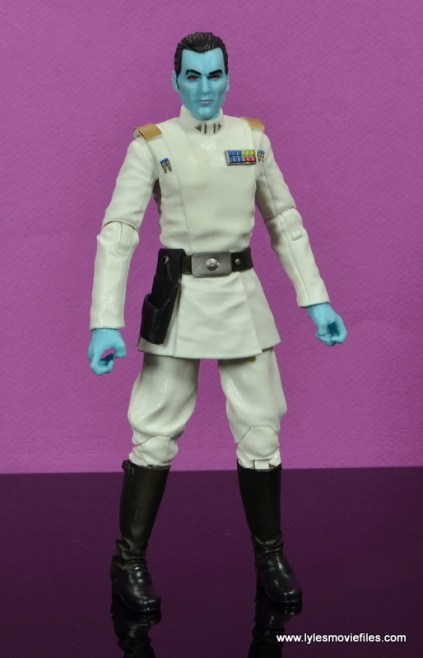 Star Wars The Black Series Grand Admiral Thrawn figure review - standing wide