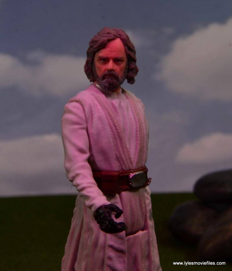 Star Wars The Last Jedi Master Luke Skywalker figure review -Sith lighting
