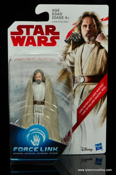 Star Wars The Last Jedi Master Luke Skywalker figure review - package front