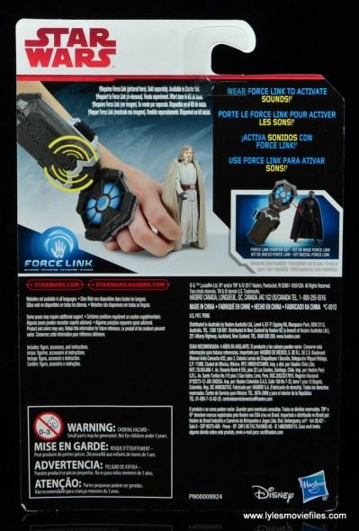 Star Wars The Last Jedi Master Luke Skywalker figure review -package rear