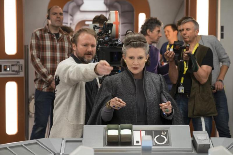 Star Wars The Last Jedi - Rian Johnson and Carrie Fisher