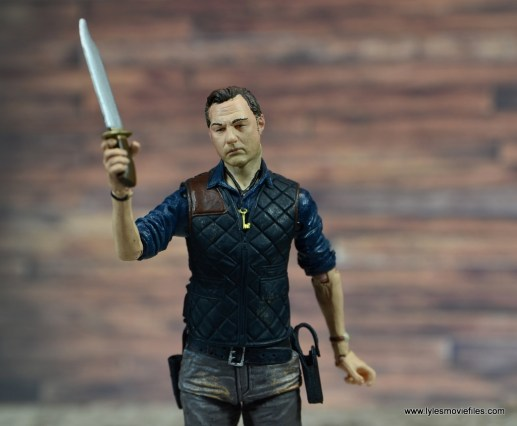 The Walking Dead The Governor TV Series figure review -with knife