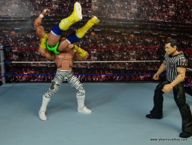 WWE Elite Brutus The Barber Beefcake figure review - atomic drop to Macho King