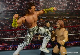 WWE Elite Brutus The Barber Beefcake figure review -high knee to Ted DiBiase