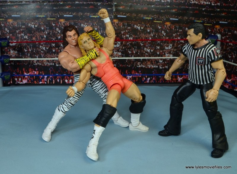 WWE Elite Brutus The Barber Beefcake figure review -sleeper hold to Mr Perfect