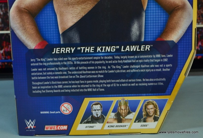 WWE Hall of Fame Jerry The King Lawler figure review -bio