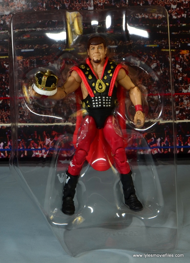 WWE Hall of Fame Jerry The King Lawler figure review -in tray