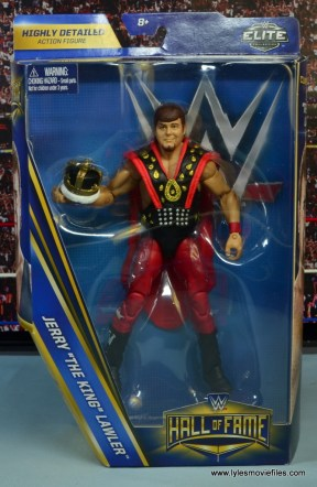WWE Hall of Fame Jerry The King Lawler figure review -package front