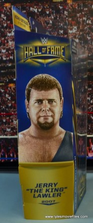 WWE Hall of Fame Jerry The King Lawler figure review -package side
