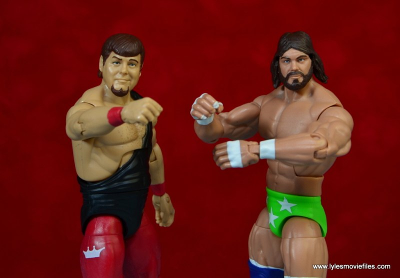 WWE Hall of Fame Jerry The King Lawler figure review - standing tall with Macho Man