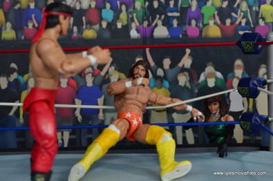 WWE Then Now Forever Miss Elizabeth figure review -comforting Macho Man