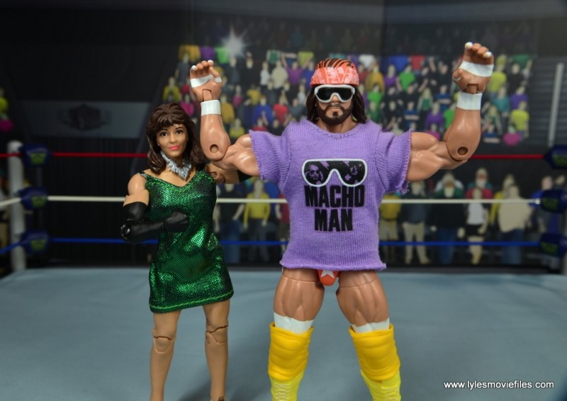 WWE Then Now Forever Miss Elizabeth figure review -with Macho Man Randy Savage