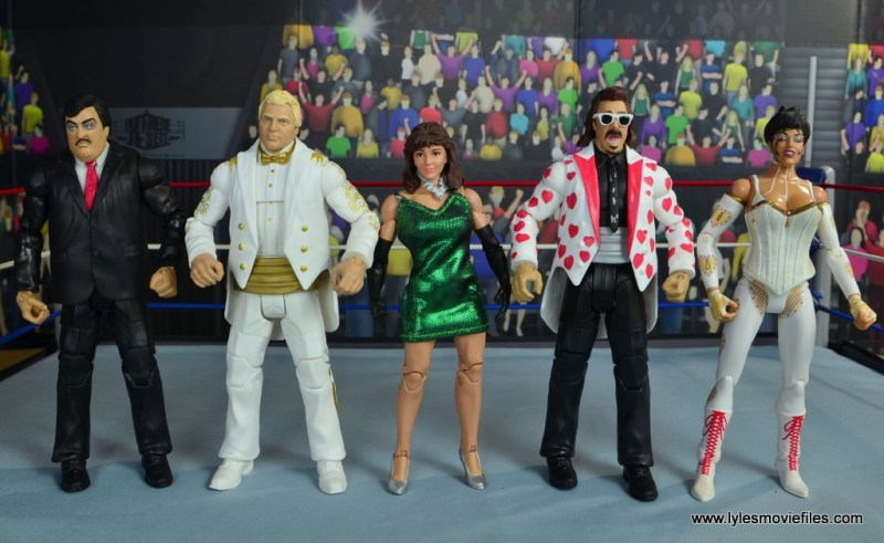 WWE Then Now Forever Miss Elizabeth figure review -with Paul Bearer, Bobby Heenan, Jimmy Hart and Sherri Martel