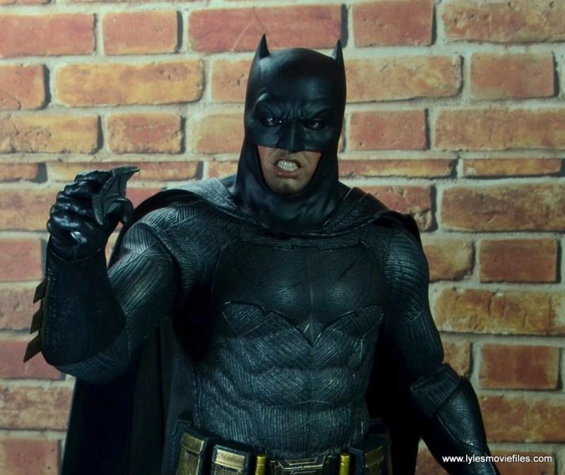 Hot Toys Batman v Superman Batman figure review - with Bat brand