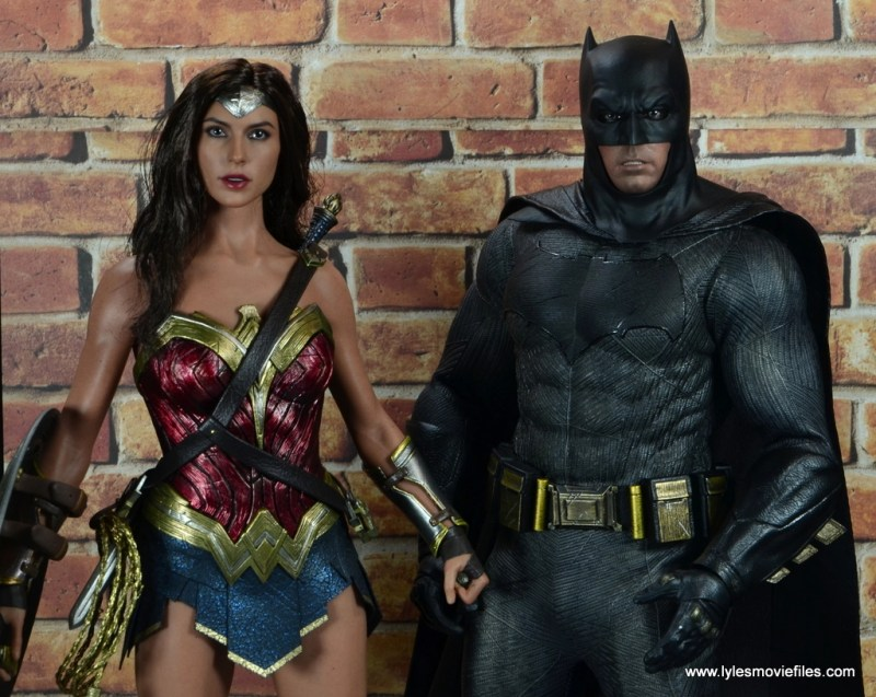 Hot Toys Batman v Superman Batman figure review -with Wonder Woman