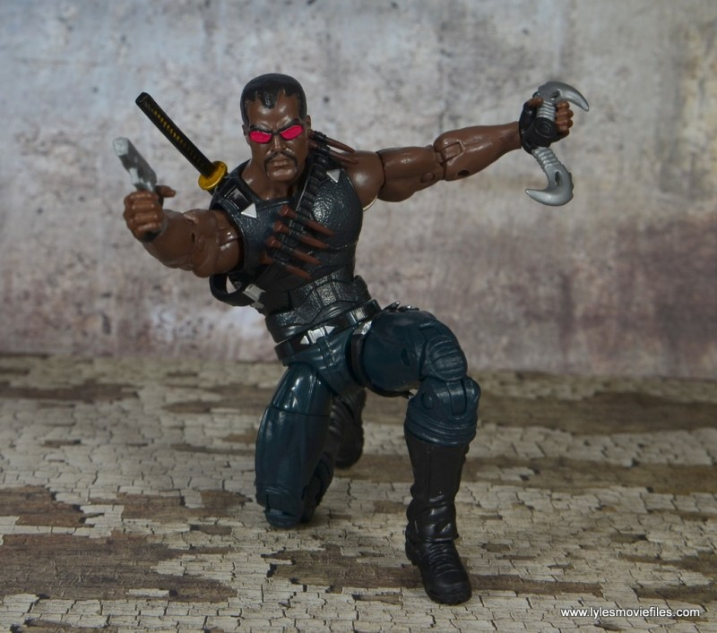 Marvel Legends Blade figure review -aiming