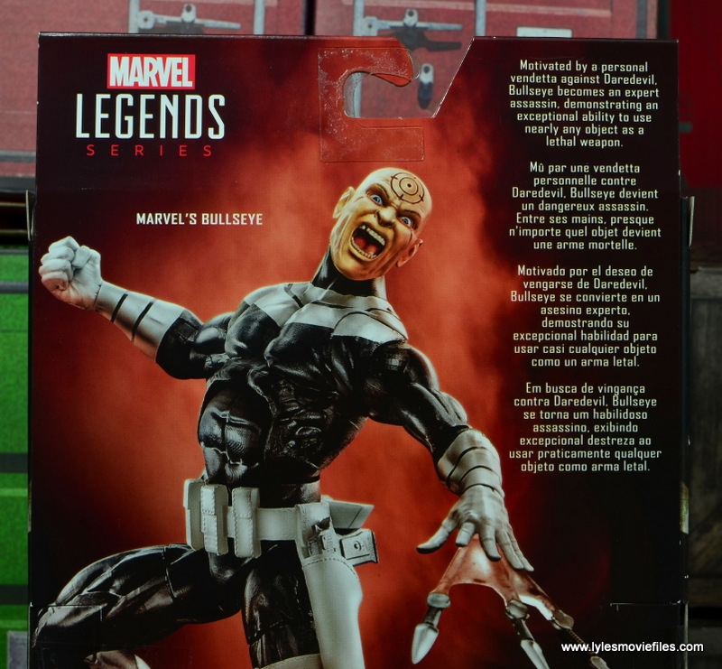 Marvel Legends Bullseye figure review - bio