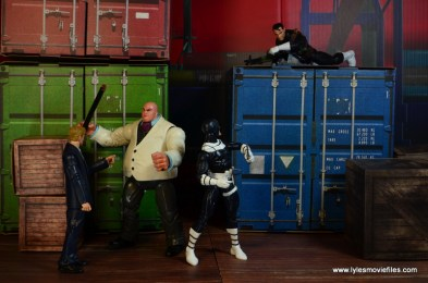 Marvel Legends Bullseye figure review - catching Punisher