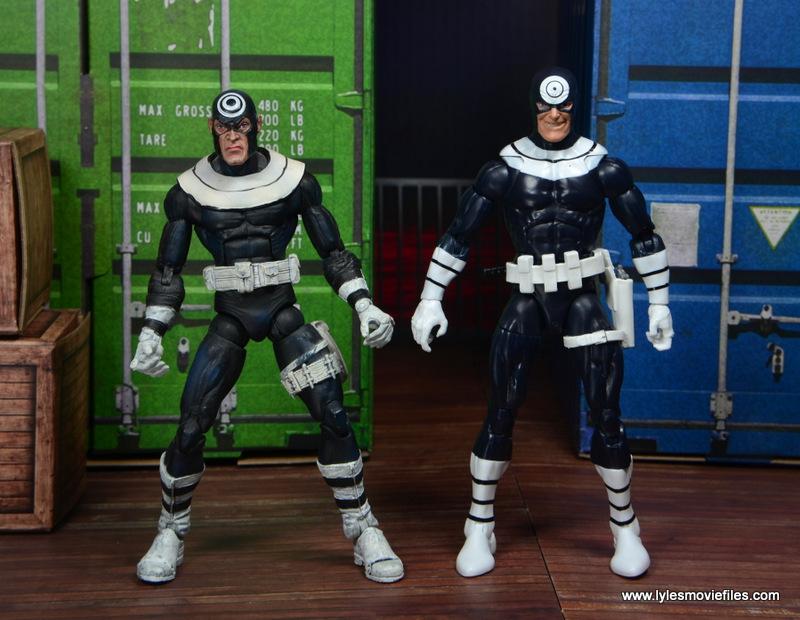 Marvel Legends Bullseye figure review - with Toy Biz Bullseye