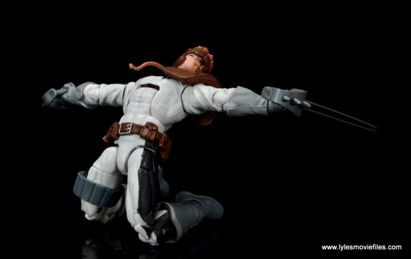 Marvel Legends Shatterstar figure review -sliding slice