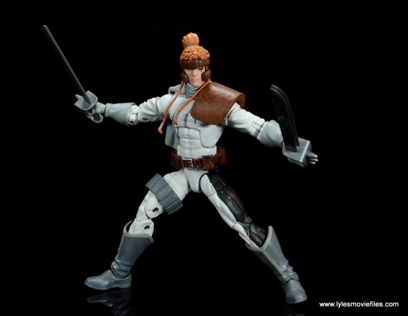 Marvel Legends Shatterstar figure review -swords ready